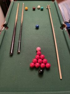 Snooker Table With Snooker, Billiards And Pool Ball Sets
