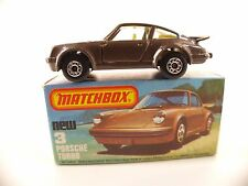 Matchbox Superfast n°3 • Porsche Turbo •  1/64 en boîte/ boxed