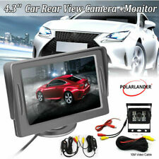 """4.3""""Car Monitor 12~24V Receiver Wireless Transmitter 10M RCA Video Cable +Camera"""