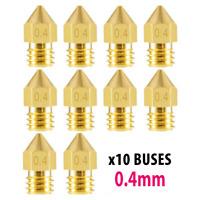 10x buse laiton 0.4mm pour Creality Ender 3 / 3 Pro imprimante 3d printer nozzle