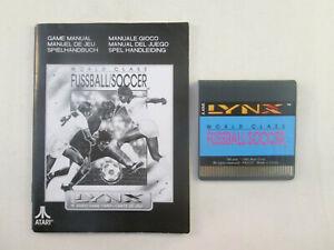 Atari Lynx - World Class Fussball / Soccer + Manual
