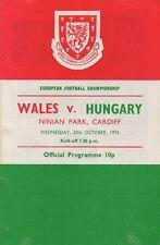 Oct 74 WALES v HUNGARY