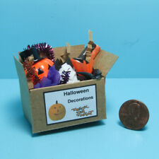 Dollhouse Miniature Halloween Holiday Decorations in Box SH514