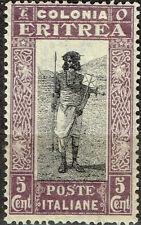 Italian Eritrea African Tribal Warrior stamp 1934 MLH