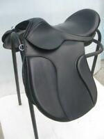 English saddle black leather treeless GP all purpose saddle in all size