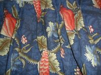 Antique French long paire curtains,thick cotton.Beautiful.