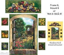 Tuscan Fruit  Abundance Wallpaper Wall Mural