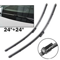 """24"""" 24"""" Front Windshield Wiper Blades Fit For VW Transporter Caravelle T5 T6 14-"""