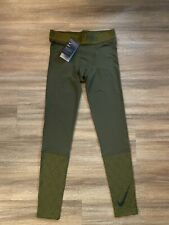 Nike Pro Tights Olive Green 929699-395 Mens Size Medium