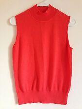 Women's Sleeveless Mockneck Knit Top Sweater Shirt Blouse Medium M