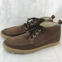 Seavees Brown Twill Canvas High Top Shoes Men's Sz 11 Lace Up