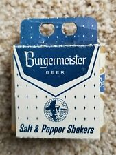 Vintage Burgermeister Beer Can Salt and Pepper Shakers - Jos. Schlitz Brewing