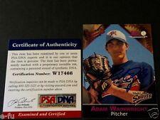 2001 Macon Braves ADAM WAINWRIGHT Blue Autograph PSA/DNA Certified Genuine Auto