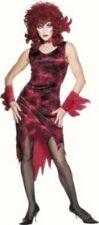 Ladies Red devil Inferno Lady fancy dress costume Women Halloween Outfit 10 12