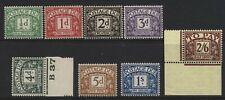 More details for 1937-8 ½d-2/6 postage due set kgvi wmks u/mint. sg d27-34