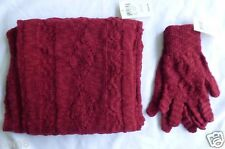 Lucky Brand Scarf and Gloves Set Womens One Size RED New with Tags Long Scarf