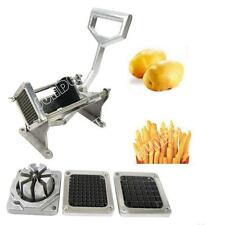 MANUAL POTATO CHIPPER VEGETABLE CUTTER CHIP STAINLESS STEEL 4 BLADES NEW COMPACT