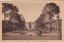 Carte postale ancienne INDOCHINE VIETNAM SAIGON boul bonnard théâtre timbre 1928