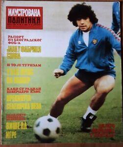 Magazine ILUSTROVANA politika MARADONA on cover football Yugoslavia 1982