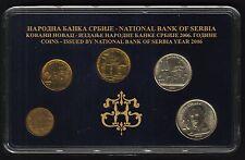 Serbia Official Central Bank Mint Set 2006. 5 Coins 1, 2, 5, 10, 20 Dinara