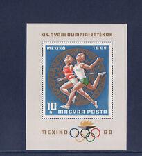 Hongrie  bloc  jeux olympiques de Mexico   1968   num: BF 71     **