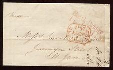 "1841 London Penny Post  ""Battle Bridge 1d PAID"" Cancel Folded Letter She  P30"