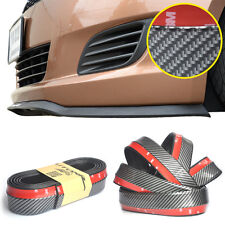 PU Body Kit Bumper Lip Splitter Front Skirt Carbon Fiber Look for Car Tuning