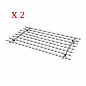 2 x IKEA Trivet Lamplig Stainless Steel Kitchen Worktop/Pot Stand Rack NEW