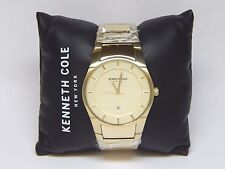 Kenneth Cole New York 10027726 Gold Tone Dial & Stainless Steel Watch