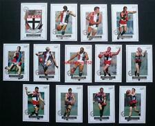 Mint 2001 AFL Select Authentic Trading Cards St, Kilda Set 13 Cards