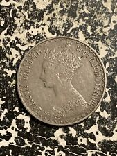 1858 Great Britain Gothic Florin Lot#Q7055 Silver!