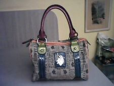 US POLO Association Doctor Purse Bag multi color trim polo design!