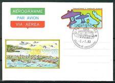 ITALIA REP. - Aerogrammi - 1983 - SECONDA TRASVOLATA ATLANTICA (FDC)