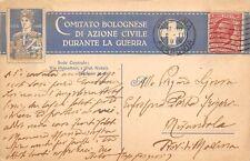C7076) WW1 BOLOGNA, COMITATO BOLOGNESE DI AZIONE CIVILE DURANTE LA GUERRA.