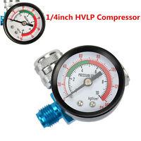 Digital Air Pressure Regulator Gauge Spray Gun& 1/4inch HVLP Compressor 140PSI