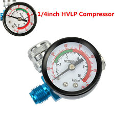 Digital Air Pressure Regulator Gauge Spray Gun& 1/4inch HVLP Compressor 140PSI