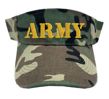 ARMY TEXT CAMO CAMOUFLAGE SUN VISOR MILITARY LAW ENFORCEMENT