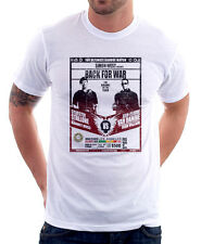 Stalone Sly vs Van Damme back for war funny poster white cotton t-shirt 9841