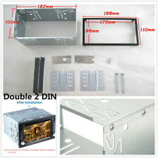 Double 2 DIN Car Stereo Radio DVD Player Dash Installation Frame Mounting Kit