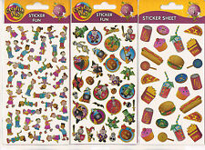 CHILDREN KIDS FUN STICKERS 10 SHEETS ANIMALS FOOD HALLOWEEN GADGETS BIRDS ETC