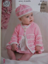 New King Cole baby jackets, beret & hat pattern