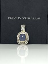 David Yurman 925 & 14k Gold Large Albion Pendan/Enhancer with Chalcedony DY180