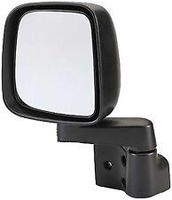 Jeep YJ & TJ - Mirror and Arm, Left - Black - 55395061AB  - 1987/2006 - TJ Style