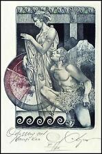 Kerin Hristo 2013 Exlibris C3 Mythology Odysseus and Nausikaa Erotic Nude 130