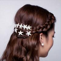 Fashion Bridal Rhinestone Gift Crystal Starfish Hair Clip Hair Pin