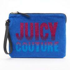 JUICY COUTURE Wet Bag Bikini Wristlet Clutch Purse *BLUE w/GLITTER* NWT MSRP $39