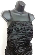 Black Mini Dress Sz 9 Crinkle Satin Xhilaration Removable Adjustable Straps NWOT