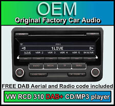 VW RCD 310 DAB+ digital radio, VW Passat CC car stereo CD MP3 player, radio code