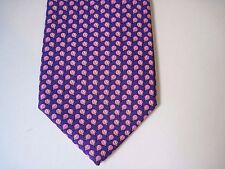 HOLLAND & SHERRY Purple Pink Designer 100% Silk Necktie Excellent Condition