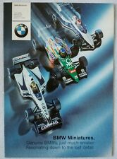 2000 BMW Miniatures Full Line Model Catalog Diecast E46 E39 M1 Z8 FW22 V12 LMR